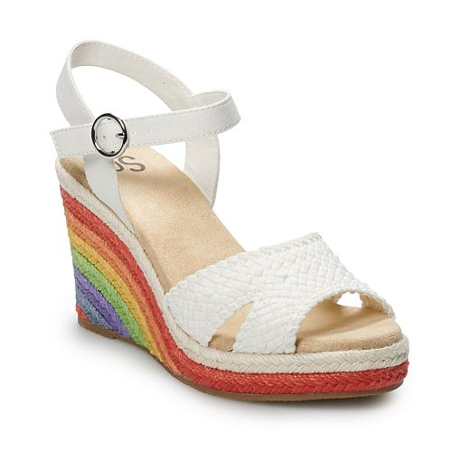 SO® Loveable Women's Wedge Sandals