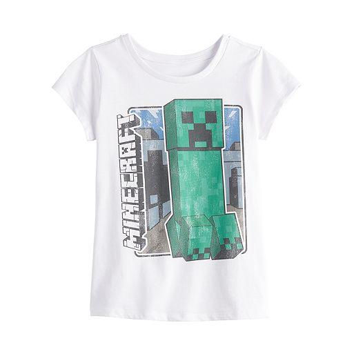 Girls 7-16 Minecraft Creeper Graphic Tee