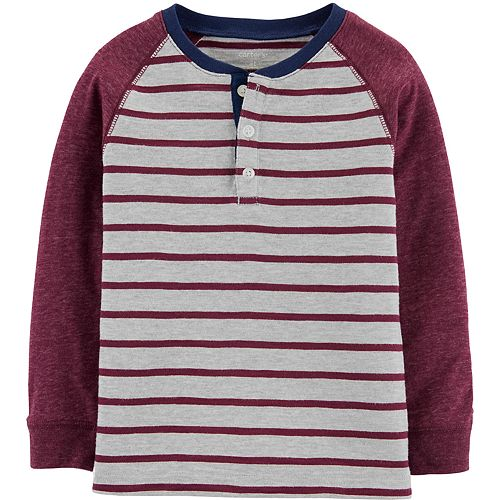 Baby Boy Carter's Striped Slub Henley
