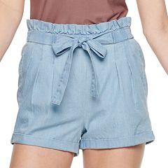 NEW! Juniors' Almost Famous Paperbag Waist Soft Shorts