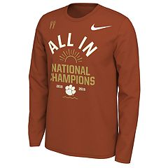 Men's Nike Clemson Tigers National Champs Celebration Tee