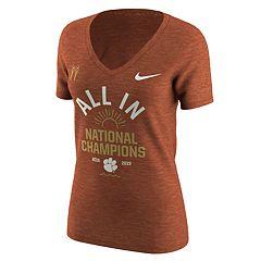 Women's Nike Clemson Tigers National Champions Tee
