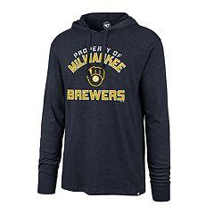 0b1b604ca38 Men s  47 Brand Milwaukee Brewers Club Arch Hoodie