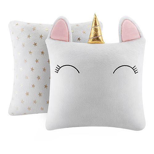 The Big One® Unicorn Shaped 2-pack Throw Pillow Set