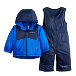 Baby Boy Columbia Hooded Heavyweight Jacket & Bib Snowpants Set