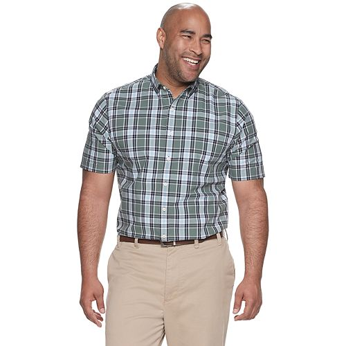Big & Tall Croft & Barrow® Classic-Fit Plaid Easy-Care Button-Down Shirt