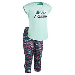 Girls 4-6x Under Armour Graphic Tee & Geometric Capris Set