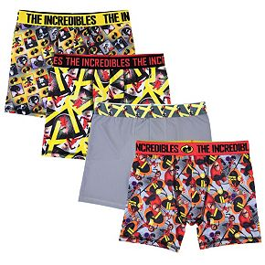 Boys 4-20 Disney / Pixar Incredibles 2 4-Pack Boxer Briefs