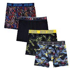 Boys 6-10 Justice League 4-Pack Boxer Briefs