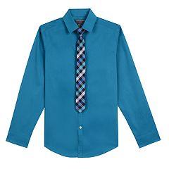 08d93156 Boys 8-20 Van Heusen Stretch Shirt & Tie Set