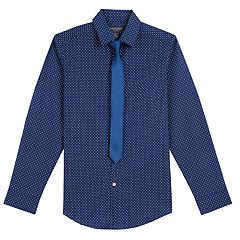 cd9086dbc119 Boys 8-20 Van Heusen Stretch Shirt & Tie Set
