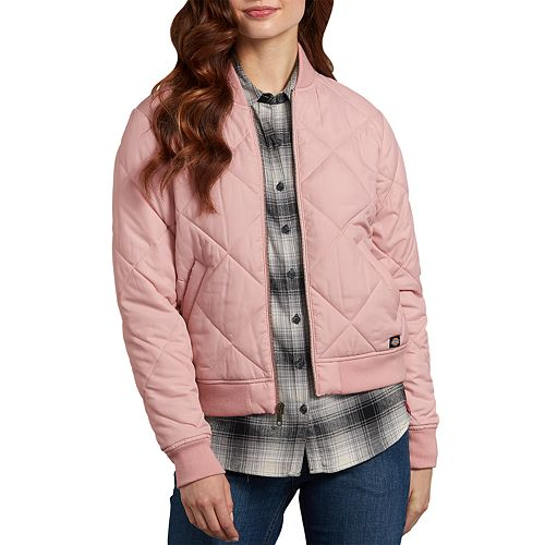 Women's Dickies Quilted Pink Bomber Jacket