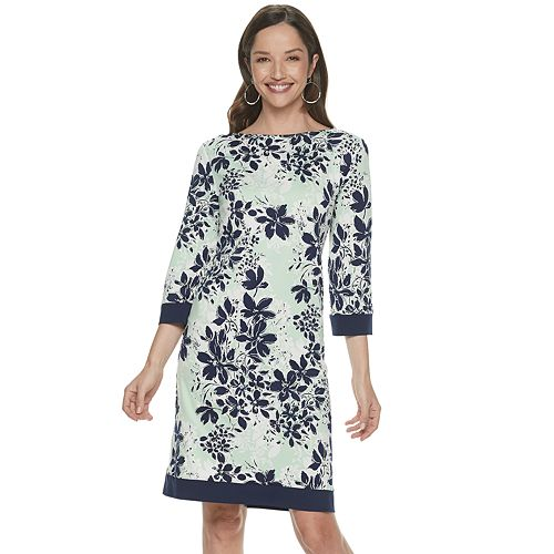 Petite Croft & Barrow® Print Sheath Dress