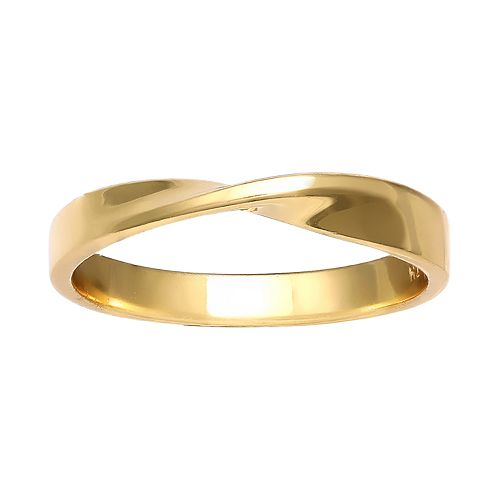 PRIMROSE 18k Gold Over Sterling Silver Twist Band Ring
