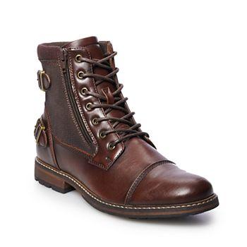 Sonoma Goods For Life Felix Men's Ankle Boots (Dark Brown)