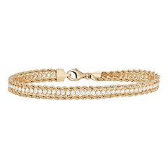 05058bfdf 14k Gold Cubic Zirconia Rope Bracelet