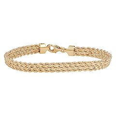 14k Gold Triple Row Rope Bracelet