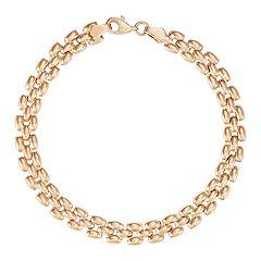 10k Gold Panther Link Bracelet
