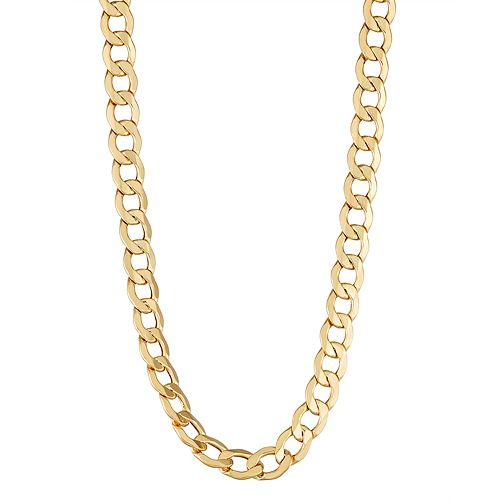 10k Gold Curb Chain Necklace - 22 in.