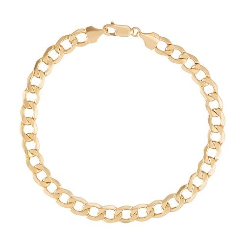 10k Gold Curb Chain Bracelet