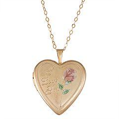 10k Gold 'I Love You' Locket
