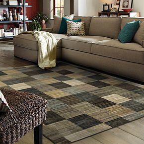 Mohawk® Home Mercario Smoke Blue Geometric Area Rug