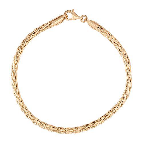 10k Gold Wheat Chain Bracelet