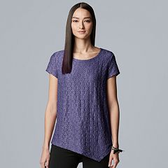 Women's Simply Vera Vera Wang Short Sleeve Pucker Tee