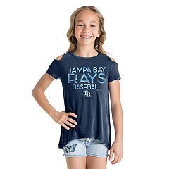 Girls 7-16 Tampa Bay Rays Cold-Shoulder Foil Tee