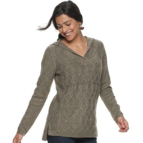 Petite SONOMA Goods for Life™ Hooded Knit Sweater