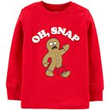 "Toddler Boy OshKosh B'gosh® ""Oh, Snap"" Gingerbread Thermal Tee"
