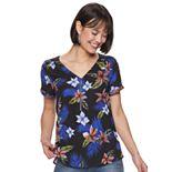 Womens Apt. 9® Crisscross Zipper-Front Top