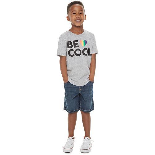 "Boys 4-7 Family Fun™ ""Be Cool"" Rainbow Pride Graphic Tee"