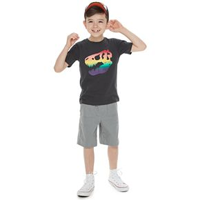 Boys 4-7 Family Fun Dinosaur Rainbow Pride Graphic Tee