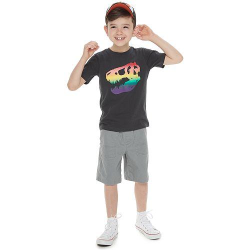 Boys 4-7 Family Fun™ Dinosaur Rainbow Pride Graphic Tee