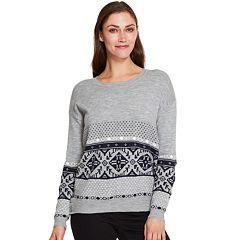 Women's IZOD Print Crewneck Sweater