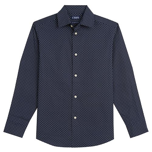 Boys 4-20 Chaps Textured Stretch Button-Down Shirt