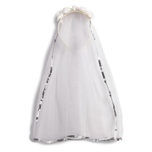 Girls 4-16 Sequin & Rosette Communion Veil