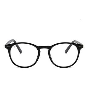 Unisex PRIVÉ REVAUX The Maestro 48mm Blue Light Round Glasses
