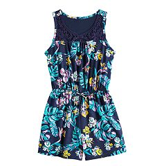 1d32961da Girls Mudd® Crochet Yoke Sleeveless Romper