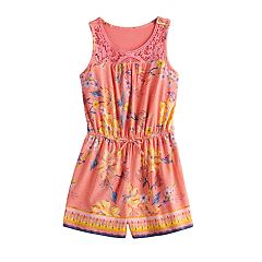 09770d031dd Girls Mudd® Crochet Yoke Sleeveless Romper