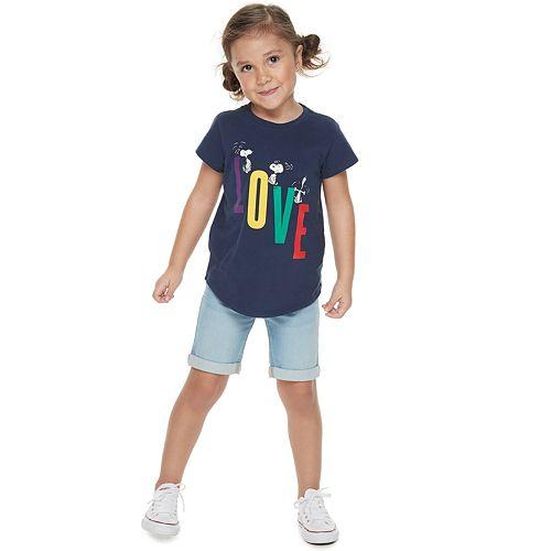 "Girls 4-7 Family Fun™ Peanuts Snoopy ""Love"" Graphic Tee"