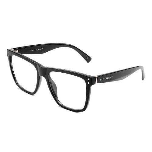 Unisex PRIVÉ REVAUX The MLK 56mm Blue Light Square Glasses