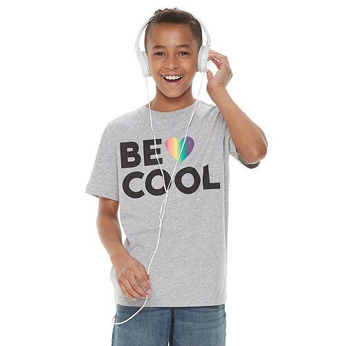 "Boys 8-20 Family Fun™ ""Be Cool"" Rainbow Pride Graphic Tee"