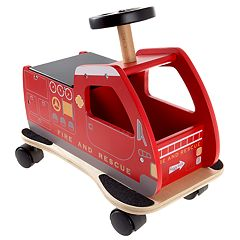 Happy Trails Ride On Fire Truck Toy Box
