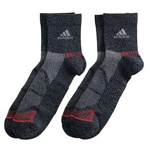Men's adidas 2-pack climalite Superlite Prime Mesh III Quarter Socks