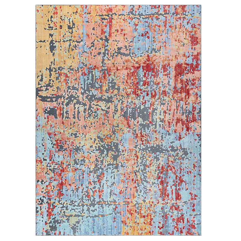 KHL Rugs Fantasia Abstract Indoor Area Rug, 2X10 Ft