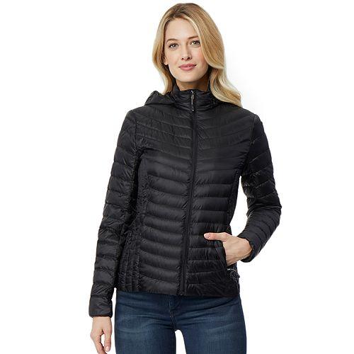 Women's Heat Keep Silk Nano Hooded Packable Down Jacket by Heatkeep
