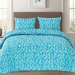 Sweet Home Collection Ashley Green Mandala Pattern Reversible Duvet Cover Set