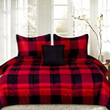 Sweethome Collection Buffalo Plaid Reversible Down-Alternative Comforter Set
